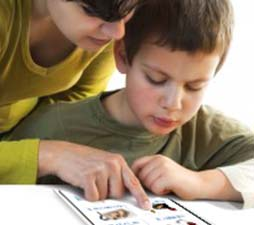 woman-helping-boy-with-ipad-app