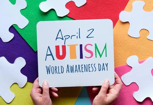 April 2 Autism Awareness Day sign