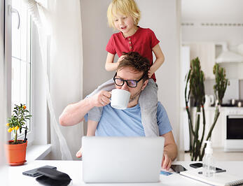 Home office and parenthood with child with autism at same time