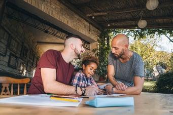 male-couple-teaching-daughter-math