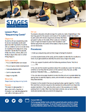 Stages Learning Sequencing Cards Lesson plan image