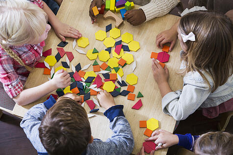 autism classroom using manipulatives to learn patterns